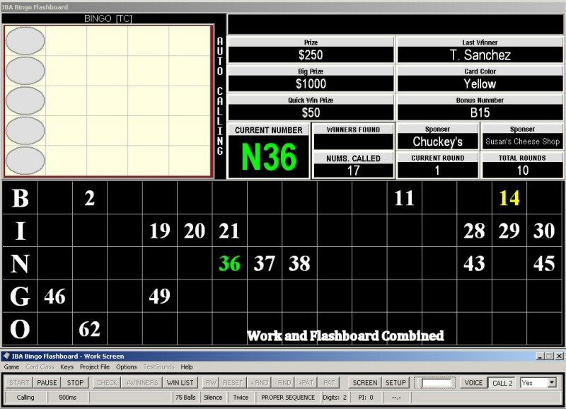 IBA Bingo Flashboard Screen shot