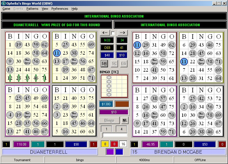 Click to view Ophelias Bingo World 2.21.12 screenshot